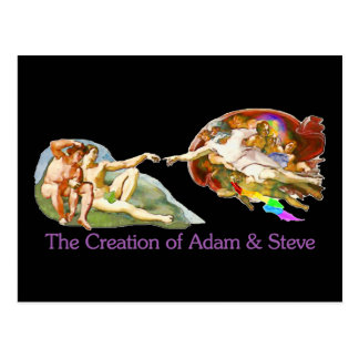 Creation of Adam and Steve Postcard