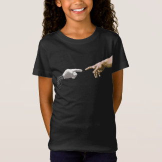 Creation Of Adam By Michelangelo Robot Arm Funny T-Shirt