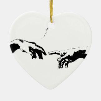 Creation of Adam Ceramic Heart Decoration