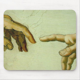 Creation of Adam (detail-hands) Mouse Pad