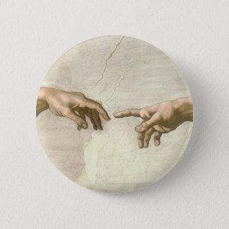 Creation of Adam Hands - Michelangelo 6 Cm Round Badge