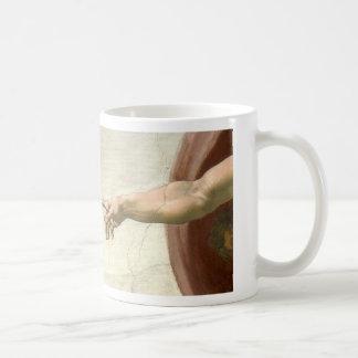 Creation of Adam Hands - Michelangelo Coffee Mug