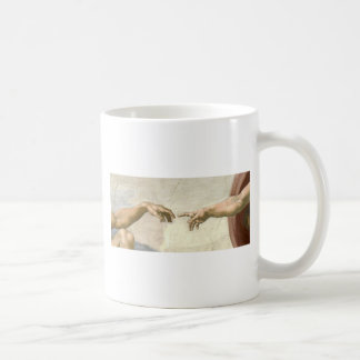 Creation of Adam Hands - Michelangelo Coffee Mug