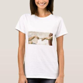 Creation of Adam Hands - Michelangelo T-Shirt