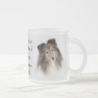 Creation of Shelties Frosted Glass Coffee Mug