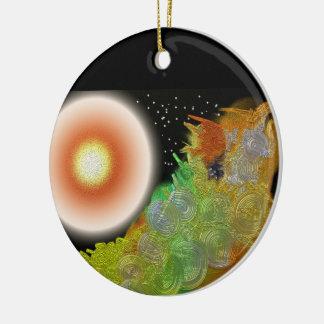 Creation Round Ceramic Decoration