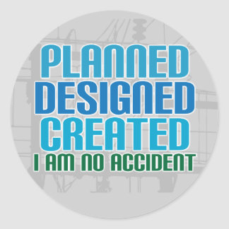 Creation stickers: Planned Designed Created