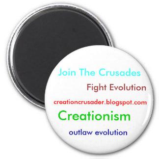 Creationism 6 Cm Round Magnet