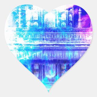 Creation's Heaven Taj Mahal Dreams Heart Sticker