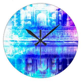 Creation's Heaven Taj Mahal Dreams Large Clock