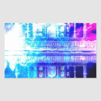 Creation's Heaven Taj Mahal Dreams Rectangular Sticker