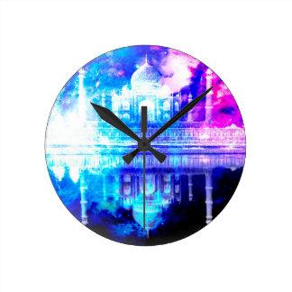 Creation's Heaven Taj Mahal Dreams Round Clock