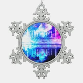 Creation's Heaven Taj Mahal Dreams Snowflake Pewter Christmas Ornament