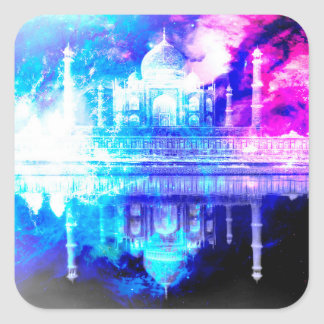 Creation's Heaven Taj Mahal Dreams Square Sticker
