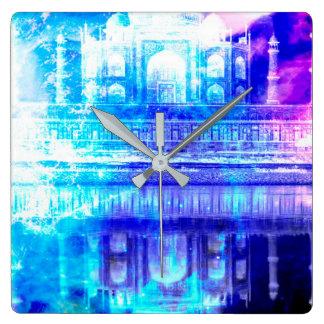 Creation's Heaven Taj Mahal Dreams Square Wall Clock