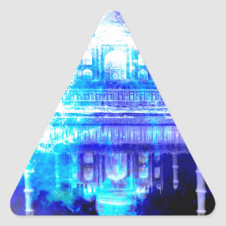 Creation's Heaven Taj Mahal Dreams Triangle Sticker