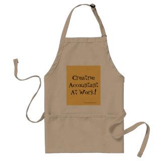 Creative Accountant At Work! Standard Apron