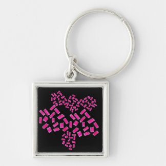 Creative and Innovative Chaveiro Silver-Colored Square Key Ring