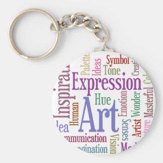 Creative Artist's Inspiration Word Art Basic Round Button Key Ring