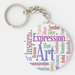 Creative Artist's Inspiration Word Art Key Chains