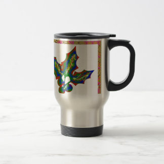 Creative Arts : HOLLY Graphics Stainless Steel Travel Mug