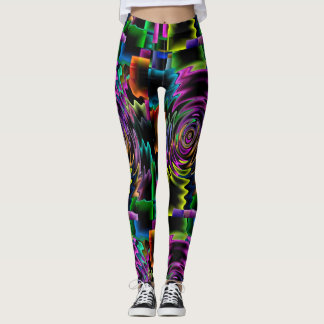 Creative, Bold, & Multi Color with a Spiral Design Leggings