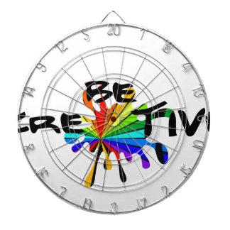 Creative colorful art dartboard