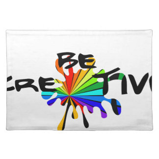 Creative colorful art placemat