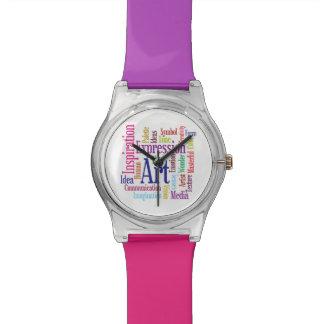 Creative Colors Artist's Inspiration Word Cloud Watch
