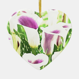 Creative colors Callas Ceramic Heart Decoration