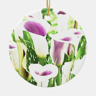 Creative colors Callas Round Ceramic Decoration