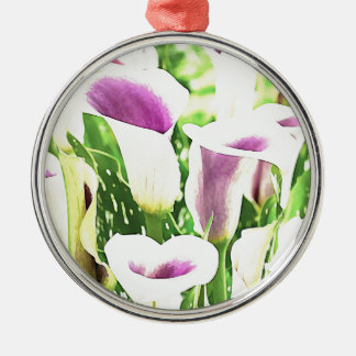Creative colors Callas Silver-Colored Round Decoration