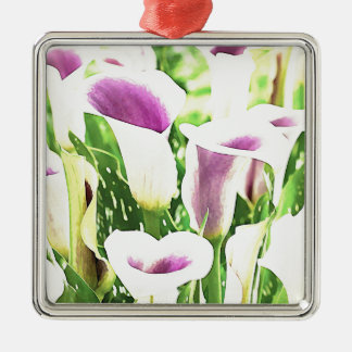 Creative colors Callas Silver-Colored Square Decoration