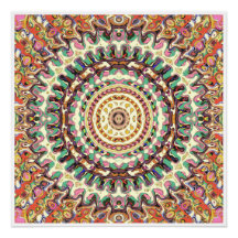 Creative Concentric Abstract 2 Poster