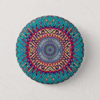 Creative Concentric Abstract 6 Cm Round Badge