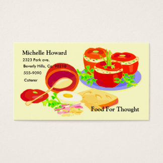 Creative Cooking Set Business Card
