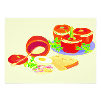 "Creative Cooking Set 5"" X 7"" Invitation Card"