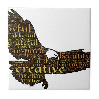 Creative eagle ceramic tile