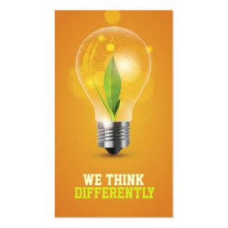 creative energic bulb business card