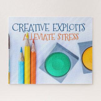 Creative Exploits Alleviate Stress Jigsaw Puzzle