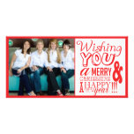 Creative Family Photo Xmas Christmas Card! Personalized Photo Card
