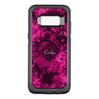 Creative & Fun Abstract Pink Paint Monogram OtterBox Commuter Samsung Galaxy S8 Case