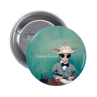 Creative Genius Designs Pinback Button