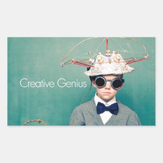 Creative Genius Designs Rectangular Sticker
