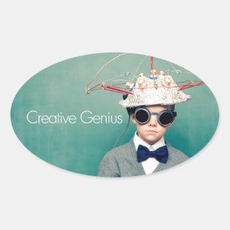 Creative Genius Designs Oval Sticker