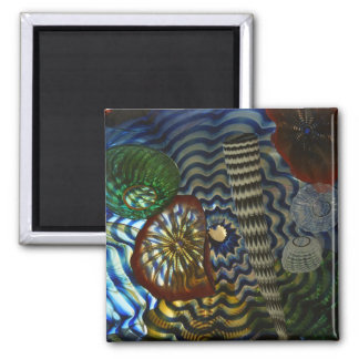 Creative Glass Blowing Square Magnet