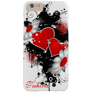 Creative Hearts and Flowers in Grunge Style Barely There iPhone 6 Plus Case