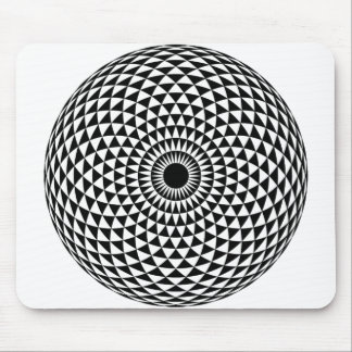 Creative Hypnotic Black and White Mouse Pad
