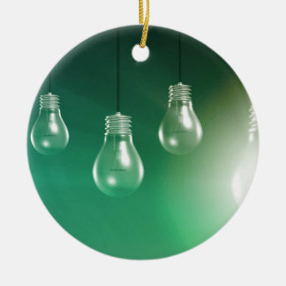 Creative Innovation and Glowing Concept as a Art Ceramic Ornament