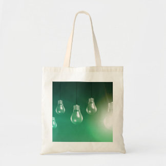 Creative Innovation and Glowing Concept as a Art Tote Bag